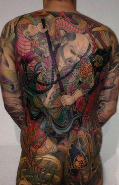 Kostas Tzikalagias - asian sleeve tattoo