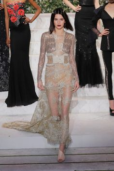 Kendall Jenner walks the runway during  La Perla Fall/Winter 2017 RTW Show at SIR Stage 37 on February 9, 2017 in New York City.