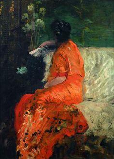 Giuseppe de Nittis (1846 - 1884), Le kimono couleur orange, 1883-84