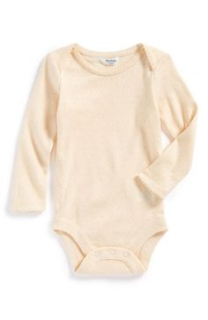 Mini Boden Pointelle Bodysuit (Baby Girls) available at #Nordstrom