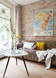Decoração de: Sala de estar; vitral antigo; Casa de Valentina