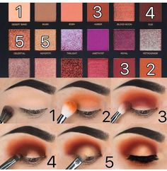 Step by Step Eyeshadow Tutorial using the Desert Dusk Palette by HudaBeauty