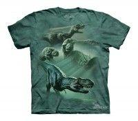 The Mountain Dinosaur Collage Dinosaur T Shirt in stock & ships same day! Shop www.DinosaurToysSuperstore.com