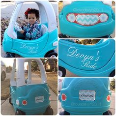 Little Tykes Cozy Coupe makeover… aka #pimpmyride tot edition! @lovedevyn2011 #lovedevyn2011
