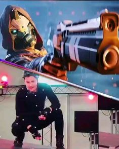 Behind the scenes actor game Destiny Cayde 6, Destiny Fallen, Destiny Video Game, Destiny Comic, Destiny Hunter, Destiny Bungie, Video Game Memes, Video Games Funny, Video Game Art