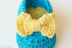 Lemon Drop Baby Booties - Free Crochet Pattern