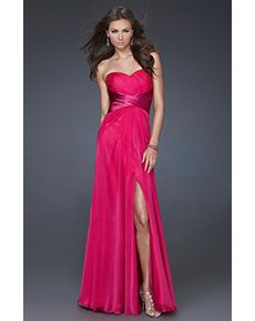 Classic in Colour Long High Slit Prom Dress (more colours available). This long prom dress is beautiful and classic in every way. The gorgeous sweetheart neckline to emphasize your bust, the flattering empire waistline created by the fashionable sash, and the high leg slit to keep the sex appeal going all night!
