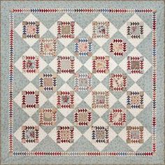 love the flying geese in this one, also the colors... if looks old and faded and like its done tons of great cuddling & comforting. That makes quilts happy- its a happy quilt.