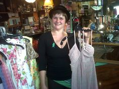 Bellingham, WA - Friend Colleen Milton of Black Market in her shop...a mixture of fun and vintage apparel and items!