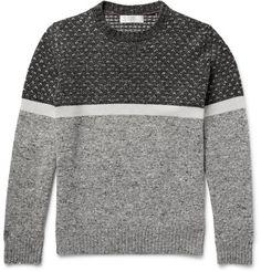 Mélange Panelled Wool, Cashmere and Silk-Blend Sweater | MR PORTER