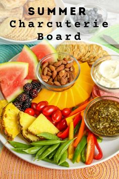 Creating a Summer Charcuterie Board is simple to make and a huge hit among kids and adults! Learn just how to make a charcuterie board that your friends and family will love! New Recipes, Snack Recipes, Snacks, Summer Recipes, Fall Recipes, Recipe Boards, Appetizer Dips, Charcuterie Board, Meals For The Week