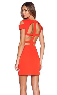 ASILIO The Madness Never Ends Dress in Poppy - I love the cut outs on this dress. I love red... I want this one.