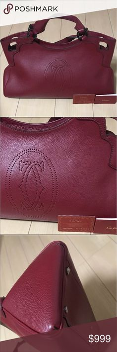 Authentic Cartier bag Always authentic Cartier Marcello de cartier bag. It comes with the authenticity card. In excellent good used condition. Please check the pictures. Cartier Bags