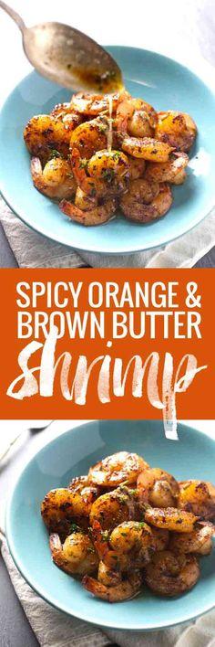 Orange Brown Butter Shrimp
