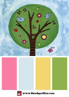 Spring Color Palette: Tree in Spring by Serena Bowman
