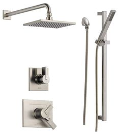 View the Delta DSS-Vero-1701 Monitor 17 Series Dual Function Pressure Balanced Shower System with Integrated Volume Control, Shower Head, and Hand Shower - Includes Rough-In Valves at FaucetDirect.com.