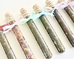 Tea Favor Test Tube- 20 Loose Leaf Tea Favors, Wedding, High Tea Party, Mad Hatter Tea Party, Shower Favor, Edible Favor, The Perfect Blend by TrioArtisanDesigns on Etsy
