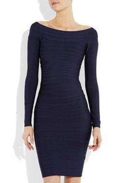 Discount Herve Leger Long Sleeve Bandage Dress Navy [Tory Burch Outlet 1179] - $148.00 : Cheap Herve Leger Dresses On Sale 2013 With Discount Price