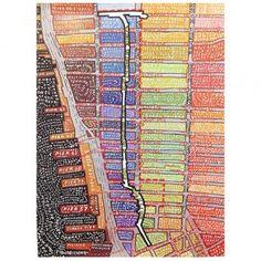 Paula Scher High Line Map Poster