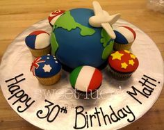 World Traveller Cake and Cupcakes - For all your cake decorating supplies, please visit craftcompany.co.uk
