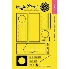 """Amazon.com: Waffle Flower Crafts Clear Stamps 4""""X6""""-Storyboard: Arts, Crafts & Sewing"""