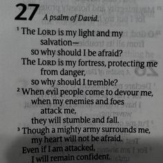 Psalm 27:1-3 ...10-3-13 ... Another favorite scripture of mine!