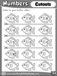 Numbers - Worksheet 6 (B&W version - cutouts)