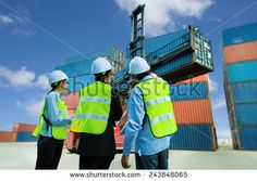 A group of engineers is to work in the field of transport containers and cargo