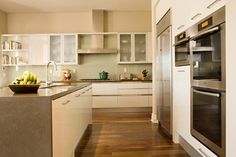 See acacia floor    Crystal Cove - contemporary - kitchen - los angeles - Michael Fullen Design Group