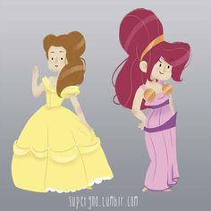 ilustracoesdisney-supergna-princesas-bela-megara