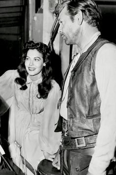 Ava Gardner and Clark Gable on the set of Lone Star (1952)