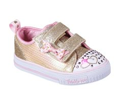 93bc0b513a5b Pack lots of sparkling style into a small treasure with the SKECHERS  Twinkle Toes  Shuffles