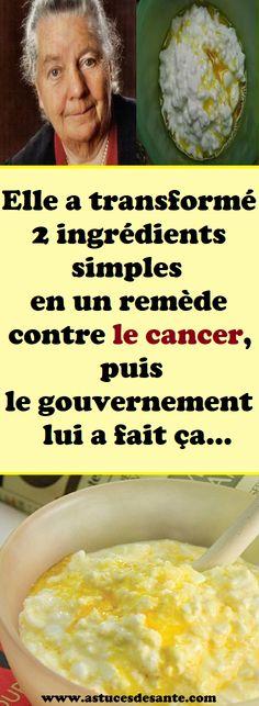 Elle a transformé 2 ingrédients simples en un remède contre le cancer, puis le gouvernement lui a fait ça… #Cancer #recettesanté #remèdes #remede #astucessanté Cancer, Nutrition, Simple, Breakfast, Natural Remedies, Morning Coffee