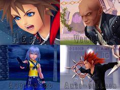 Kingdom Hearts | Sora, Xehanort, Riku, and Axel