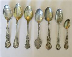 Sterling Souvenir Indian Spoon Lot of 7. Available @ hamptonauction.com for the May 19th Auction!