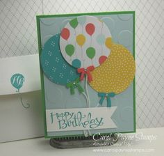 Stampin Up DIY Crafts Handmade Birthday Cards Balloons Sassy