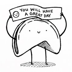 you will have a great day  random work doodle By Artist Philip Tseng