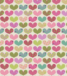 Colorful hearts  Flannel  1 yard by Sweetbobbinsfabric on Etsy, $6.75