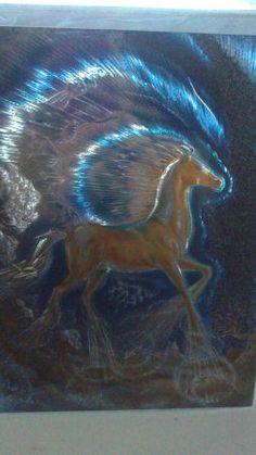 postal- card unicorn con hallo