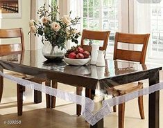 Table Cover Designer Vinyl Tablewares  *Material* Vinyl   *Capacity* 6 Seater   *Size* (L x W) - 60 in x 90 in   *Description* It Has 1 Piece Of Tableware  *Sizes Available* Free Size *   Catalog Rating: ★4.1 (128)  Catalog Name: Classy Vinyl Transparent Table Covers Vol 1 CatalogID_36020 C129-SC1637 Code: 903-339258-