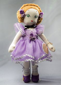Ballerina Nina - Handmade Collection Cloth Dolls by Manolitas Art Dolls, Ballerina, Sewing Crafts, Doll Clothes, Fairy Tales, Harajuku, Textiles, Trending Outfits, Handmade Gifts