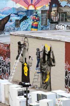 Streetart - Fin DAC & Angelina Christina in New York City for Beautify Earth