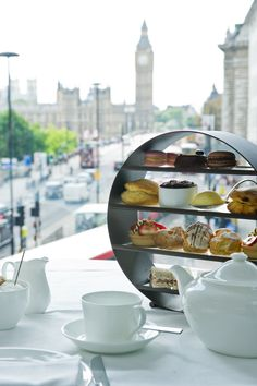 Afternoon tea with a view at Park Plaza Westminster Bridge.