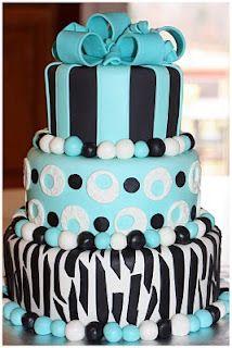 Blue cake for girls