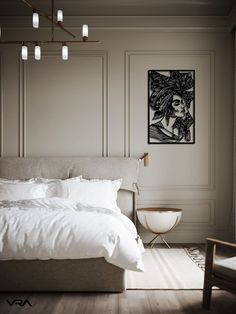 Ikea Bedroom, Home Bedroom, Bedroom Decor, Bedrooms, Bedroom Lighting, Master Bedroom, Wall Decor, Wall Art, Home Room Design