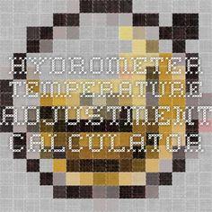 Hydrometer Temperature Adjustment Calculator