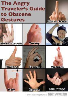 A Guide to Important Hand Gestures...