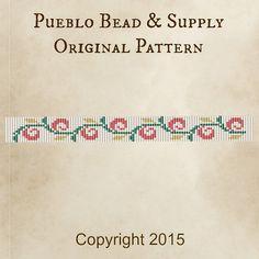 Sprung Seed Bead Pattern Loom Cuff Bracelet PDF File Beaded