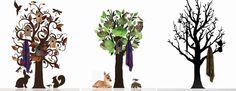 Met deze geweldige interieurstickers of muurstickers creëer je in je woonkamer, slaapkamer, kantoor of hal een zeer bijzondere sfeer. Kies uit de grote bomen stickers met kapstok haakjes of haal de natuur in huis met de vogel raamsticker, het hert of het eekhoorntje.