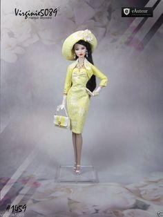 tenue outfit + accessoires pour fashion royalty Barbie silstone nu face #1459 in Jouets et jeux, Poupées, vêtements, access., Autres | eBay